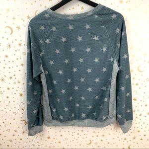 Papermoon Tops - PaperMoon | Blue Star Print Lightweight Sweatshirt
